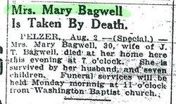 Mary <i>Davis</i> Bagwell