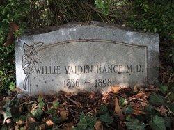 Dr Willie Vaiden Nance