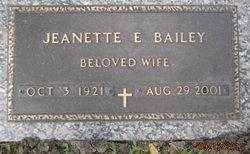 Jeanette E Bailey