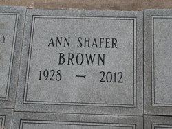 Ann <i>Shafer</i> Brown