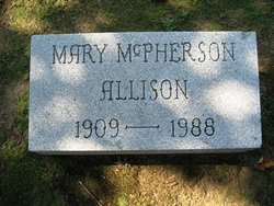 Mary E. <i>McPherson</i> Allison