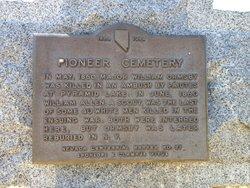 Carson Pioneer Cemetery