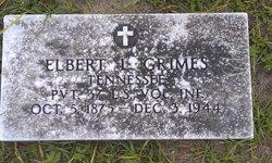 Pvt Elbert L Grimes