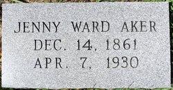 Jenny <i>Ward</i> Aker