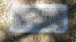 Maymie <i>Arnold</i> Abrahams