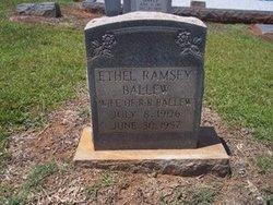 Annie Ethal <i>Ramsey</i> Ballew