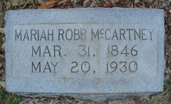 Mariah E <i>Robb</i> McCartney