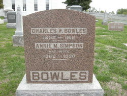 Annie M <i>Simpson</i> Bowles