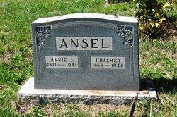 Anne Jane Annie <i>Chapman</i> Ansel