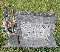 Betty Jean <i>Blythe</i> Allman