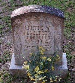 Erette <i>Walley</i> Henderson