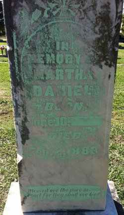 Martha <i>Martin</i> Daniel