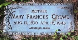 Mary Frances Fannie <i>Swart</i> Crewe