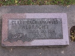 Clare Tacy <i>Knowles</i> Albrecht