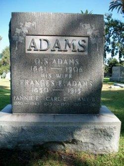 Frances E Fannie <i>Morgan</i> Adams