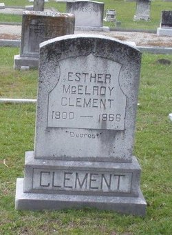 Esther <i>McElroy</i> Clement