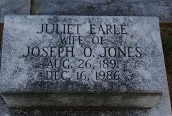 Juliet <i>Earle</i> Jones