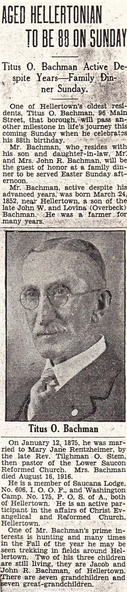 Titus Overbeck Bachman