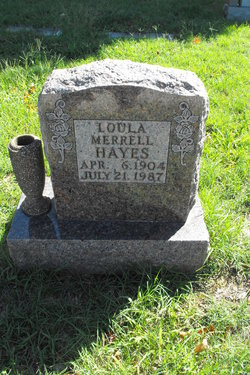 Loula <i>Merrell</i> Hayes