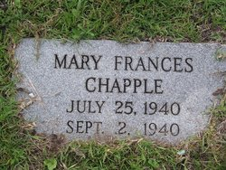 Mary Frances Billie <i>Chapple</i> Chapple