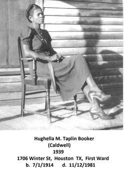 Hughella Mildred Honey <i>Caldwell</i> Booker