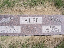 Annie <i>Willms</i> Alff