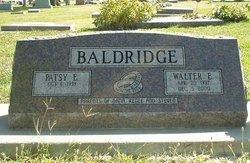 Walter E Baldridge