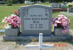 Annie Myrtle Granny Beal <i>Rogers</i> Beal