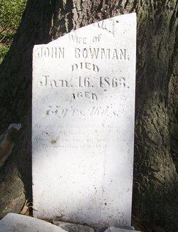 Wife of John Bowman