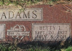 Betty Lee <i>Morrison</i> Adams