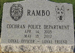 Rambo Cochran Police Dog