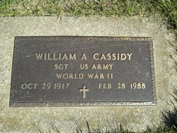 Sgt William A. Cassidy