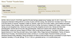 Neva Rozelle Tootsie <i>Hunley</i> Bates