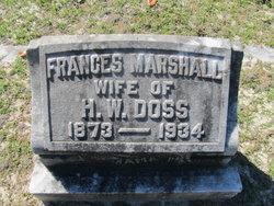Frances <i>Marshall</i> Doss