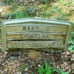 Mary V <i>Upshaw</i> Johnson