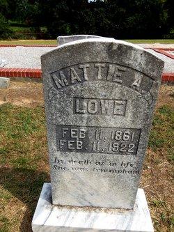 Mattie A Lowe
