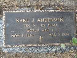 Karl J Anderson