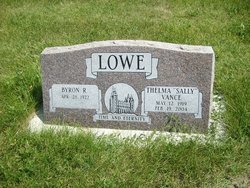 Thelma Sally Sally <i>Vance</i> Lowe