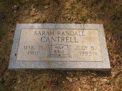 Sarah <i>Randall</i> Cantrell