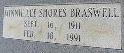 Minnie Lee <i>Shores</i> Braswell