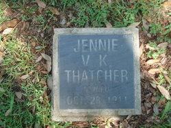 Jennie V. Katherine Thatcher