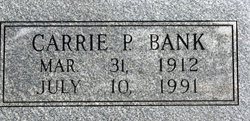 Carrie Pearl <i>Young</i> Bank