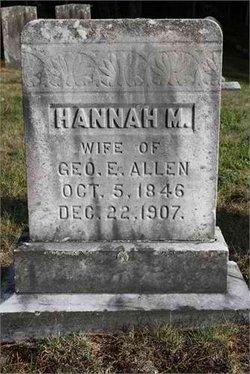 Hannah M <i>Carpenter</i> Allen