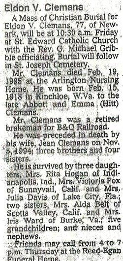 Eldon V Clemans