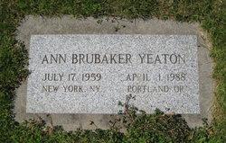 Ann Brubaker Yeaton