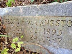 Georgia W Langston
