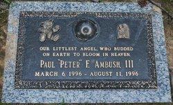 Paul F Peter Ambush, III