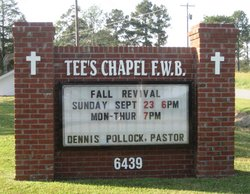 Tees Chapel Baptist Church Cemetery
