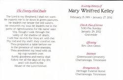 Mary Winifred <i>Mitts</i> Kelley