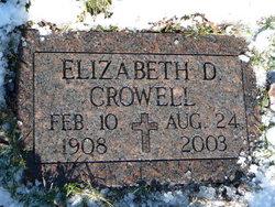 Elizabeth D. Crowell
